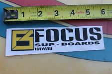 Focus Sup Stand up Paddle Boards Hawaii 3 Surfboards Vintage Surfing Sticker