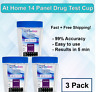 14 Panel At Home Drug Test Kit  - (3 Pack) Urine Drug Test Cup - Free Shipping!