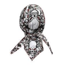 Black Red Eye White Skulls Durag Headwrap Skull Cap Sweatband Capsmith