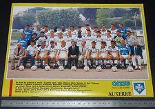 CLIPPING POSTER FOOTBALL 1987-1988 AJ AUXERRE AJA ABBE-DESCHAMPS GUY ROUX