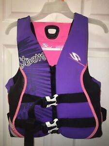 WOMEN'S Stearn's Life Jacket Vest USCG Approved~Pink~Purple~Black~White~Medium