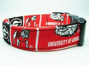 University of Georgia Bulldogs College Standard Adjustable Dog Collar