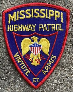 "Vintage Mississippi Highway Patrol Police Patch USA 4.75""x3.75"""