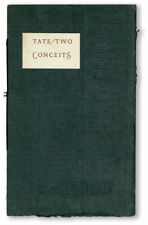Allen Tate TWO CONCEITS FOR THE EYE TO SING IF POSSIBLE 1st ed ltd to 300 copies