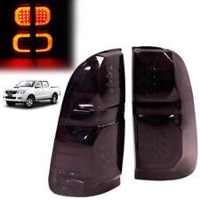 Fit 2012 Toyota Hilux Vigo Sr5 Mk6 Champ Mk7 Rear Tail Light Lamp Black Pair