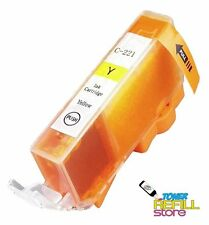 Compatible Canon CLI-221Y Ink Cartridge for Canon Pixma iP3600, iP4600, iP4700