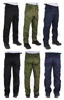 "Men Plain Big Size Work/Casual Cargo Combat Trousers Size 28-62 Leg 29.5"" 31.5"""