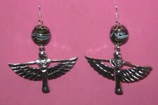 """""""WINGED ISIS"""" -HANDCRAFTED  EARRINGS"""