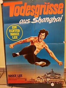 Todesgrüsse aus Shanghai Bruce Lee Orig.Filmplakat Din A 1 gefalten