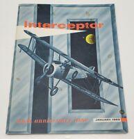Vtg Interceptor Magazine Airplane Book 10th Anniversary January 1969 Air Force