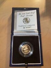 More details for royal mint uk gold proof half sovereign 1996