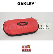 OAKLEY® SUNGLASSES EYEGLASSES LARGE SEMI RIGID VAULT STORAGE CASE BALLISTIC RED