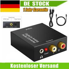 Digital Optisch Toslink Koaxial auf Analog L/R Audio Konverter Adapter Kabel RCA