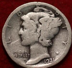 1921-D Denver Mint Silver Mercury Dime