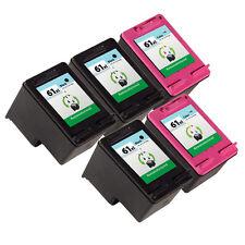5 Pack HP 61XL Ink Cartridge CH563WN CH564WN Deskjet 1000 Deskjet 1050 Printer