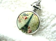 Unusual gift for her Pocket Watch Necklace Vintage Quirky Kitsch Retro Trendy