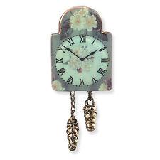 Reutter Porzellan Nostalgieuhr English Rose Wall Clock Puppenstube 1:12  1.403/5