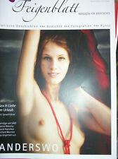 Zeitschrift Feigenblatt Heft 8 von Sommer 2007 Woerter Verlag