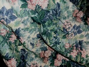 """4 Laura Ashley Ashbourne Green Floral valance 17""""  x 41"""" wide lined"""