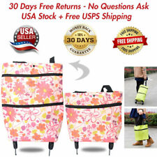 Foldable Shopping Storage Bags Portable Trolley Bag Food Grocery Cart On Wheels