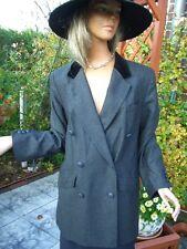 LUXUS DESIGN ESCADA CLASSICS Blazer jacket 38/40 silber grau SAMT GOLF STATEMENT