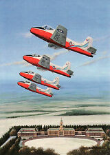 Jet Provost JP MK5 British Aircraft Corporation   RAF Cranwell Christmas Card
