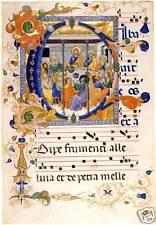 Illuminated Manuscripts: Last Supper in C - Art Print