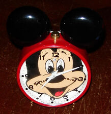 BRADLEY  ELGIN  MICKEY MOUSE CLOCK  1980'S  WDP  DISNEY  GERMANY  MOUSE EARS