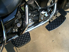 CUSTOM HARLEY DAVIDSON DIAMOND PLATE & POWDERCOAT FLOORBOARD SKINS, COVERS, PADS