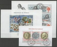Monaco-bl.63, 64,65, estampillé used 1994