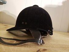 Traditional Horse riding velvet hard hat small