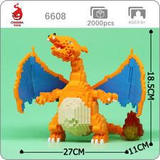 CHAKRA 6608 Pokemon Charizard Pocket Monster Mini Diamond Blocks Building Toy