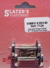Slaters 7126 1 x Pair Standard Spoked GWR Wagon Wheels & Brass Bearings 0 Gauge