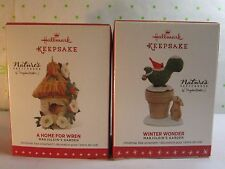 2 Marjolein Bastin Hallmark Ornaments Winter Wonder 2016 + Home for Wren 2015