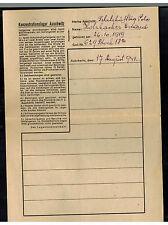 1941 Germany Auschwitz Concentration Camp Letter KZ Eduard Holzhacken t0 Rzeczow