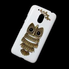 For Motorola Moto G4 Plus / G4 Play Retro Bronze Owl Branch Back Hard Case Cover