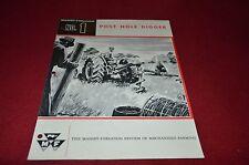 Massey Ferguson No. 1 Post Hole Digger Dealer's Brochure DCPA2