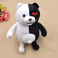 Anime Dangan Ronpa Mono Kuma Monokuma White&Black Bear Doll Toy Soft Plush Craft