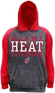 NEW Miami Heat Basketball NBA Raglan French Terry Hoodie Sweatshirt Youth Small