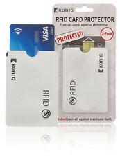 CONTACTLESS CREDIT CARD PROTECTOR SLEEVE WALLET RFID  3 X TWIN PACKS (6 SLEEVES)
