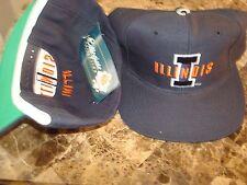 ILLINOIS FIGHTING ILLINI  NEWERRA SCRIPT NEW VINTAGE 90'S HAT CAP  SNAPBACK