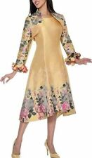 NUBIANO DRESS SUIT 18W 1X 2X YELLOW PLUS SIZE DRESS SUIT CHURCH WEDDING NWT NEW