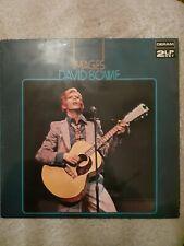 DAVID BOWIE IMAGES DOUBLE ALBUM 1970's ROCK COMP LP. Play tested VG+
