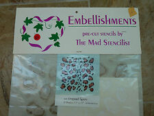 New 1996 Embellishments 423 Leopard Spots Pre Cut Stencils By The Mad Stencilist
