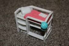 Sweet Streets Fisher Price Beach House White Loft Bunk Bed Dollhouse Toy RARE