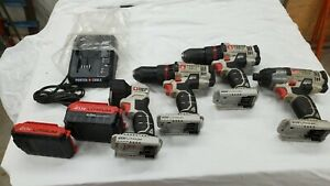 """PORTER CABLE 20V IMPACT DRIVER, 1/2"""" DRILL, FLASHLIGHT, W/2 BATTERIES CHARGER"""