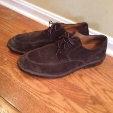 Lands End Men's Brown Suede Leather Oxfords 13 D Lace Up