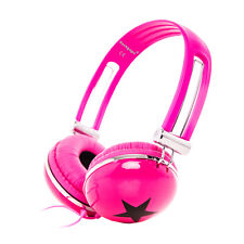 STAR OVERHEAD DJ HEADPHONE EARPHONE FOR iPad mini / iPod Touch Shuffle / Pink