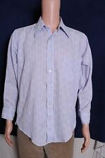 Vtg '60s Norris atomic print button down long sleeve gray with burgandy shirt L
