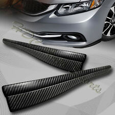 JDM 363MM Carbon Style Bumper Lip Side Scratch Protector Strip Guard Universal 2